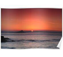 Sunrise St Michael's Mount: Penzance Cornwall UK Poster