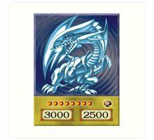 Blue eyes white dragon Art Print