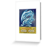 Blue eyes white dragon Greeting Card