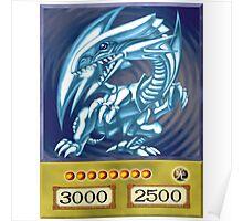 Blue eyes white dragon Poster
