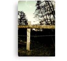 Barbwire Fence! Canvas Print