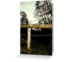 Barbwire Fence! Greeting Card