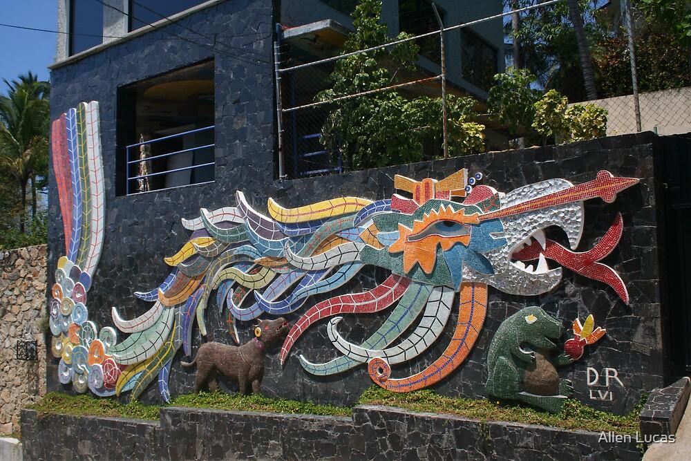 Diego rivera 39 s quetzalcoatl by allen lucas redbubble for Mural quetzalcoatl