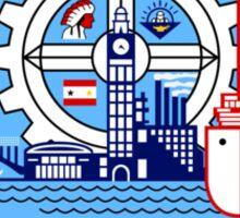 Flag of Milwaukee  Sticker