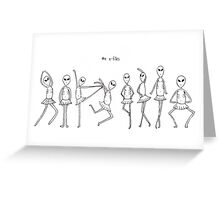 the x-filles Greeting Card