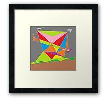 Ribbon Arrow Framed Print