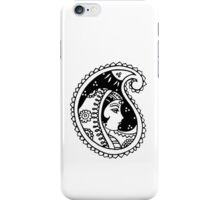 oriental woman in shawl under night sky stars moon iPhone Case/Skin