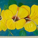 yellow hibiscus flowers by anetsart