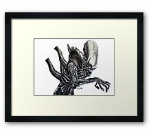 Alien - Ink Framed Print