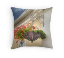 Pensile Blossoms of Building #7 Throw Pillow