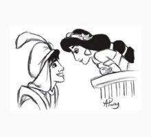 Aladdin and Jasmine Sketch T-Shirt