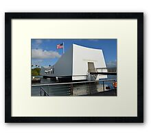 USS Arizona Memorial Framed Print
