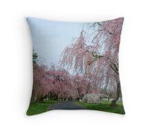 Weeping Cherries- Lexington Cemetery Throw Pillow