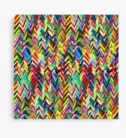 tripy chevrons 2 Canvas Print