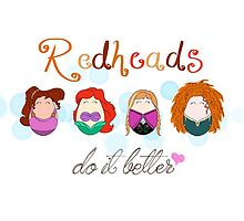 Red Head Disney Ladies by LaurasLovelies
