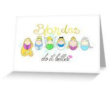 Blonde Disney Ladies Greeting Card