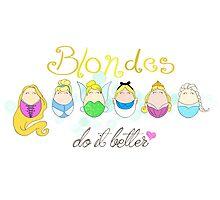 Blonde Disney Ladies Photographic Print