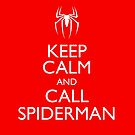 Keep Calm and Call Spiderman by monsterplanet