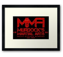 MMA - Murdock's Martial Arts (V04 - Bloodred) Framed Print