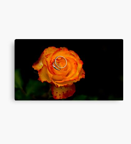 Wedding Rose Canvas Print
