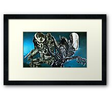 Alien and Predator - Derelict Framed Print