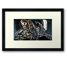 Alien and Predator - Ship Framed Print