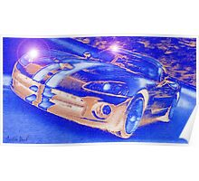Blue-Neon-Nights-Car-Justin Beck-picture-2015106 Poster