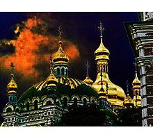 Golden domes Photographic Print