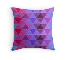 Funky Triangle Structure Throw Pillow