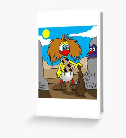 "Rick the Chick ""NEANDERTHAL CHICK"" Greeting Card"