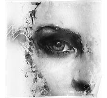 Kate Moss Series 1 - Eye Detail 2 - Black and White Poster