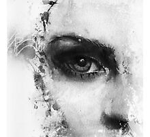 Kate Moss Series 1 - Eye Detail 2 - Black and White Photographic Print