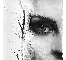Kate Moss Series 1 - Eye Detail 1 - Black and White Photographic Print