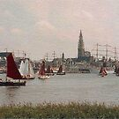 Antwerp Harbour by Gilberte