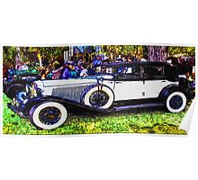 Old-White-Car-Justin Beck-picture-2015104 Poster