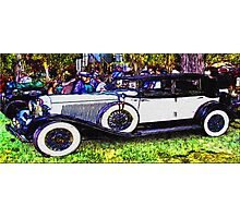 Old-White-Car-Justin Beck-picture-2015104 Photographic Print