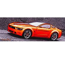 Orange-Car-Justin Beck-picture-2015108 Photographic Print