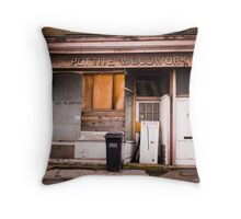 Pettite Woodwork (Building Facade) Throw Pillow