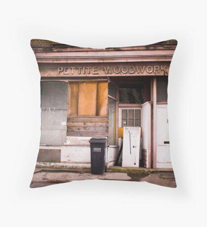 Pettite Woodwork (Building Facade) Throw Pillow