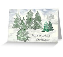 White Christmas winter forest greeting Greeting Card