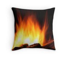 Braai Fire Throw Pillow