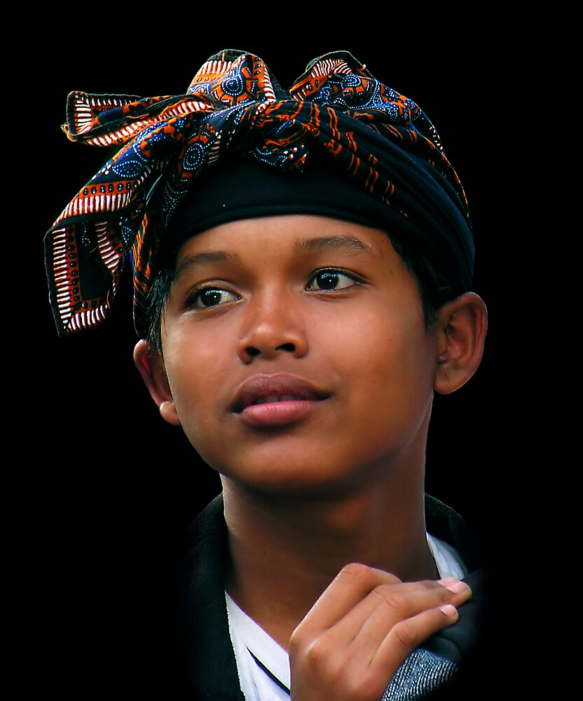 BALINESE BOY - UBUD by Michael Sheridan