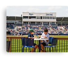 Young Boys Love Baseball - Tampa Rays Stadium Canvas Print