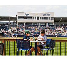 Young Boys Love Baseball - Tampa Rays Stadium Photographic Print