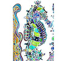 Seahorse water colours Photographic Print