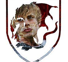 Merlin- King/Prince Arthur Crest  by frostwolf0303
