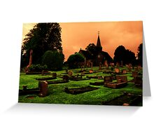 Grave Yard With A Twist Greeting Card