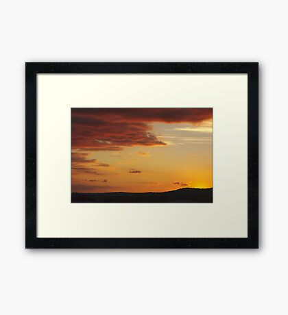 Thulimbah Sunset Framed Print