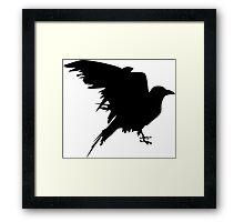 graphic raven Framed Print