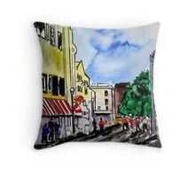 cityscape illustration childrens book scene Throw Pillow